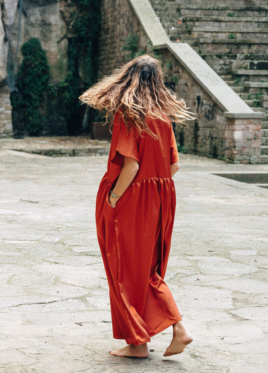 mujer  dresses fiesta moda poder saten tierra vestidos