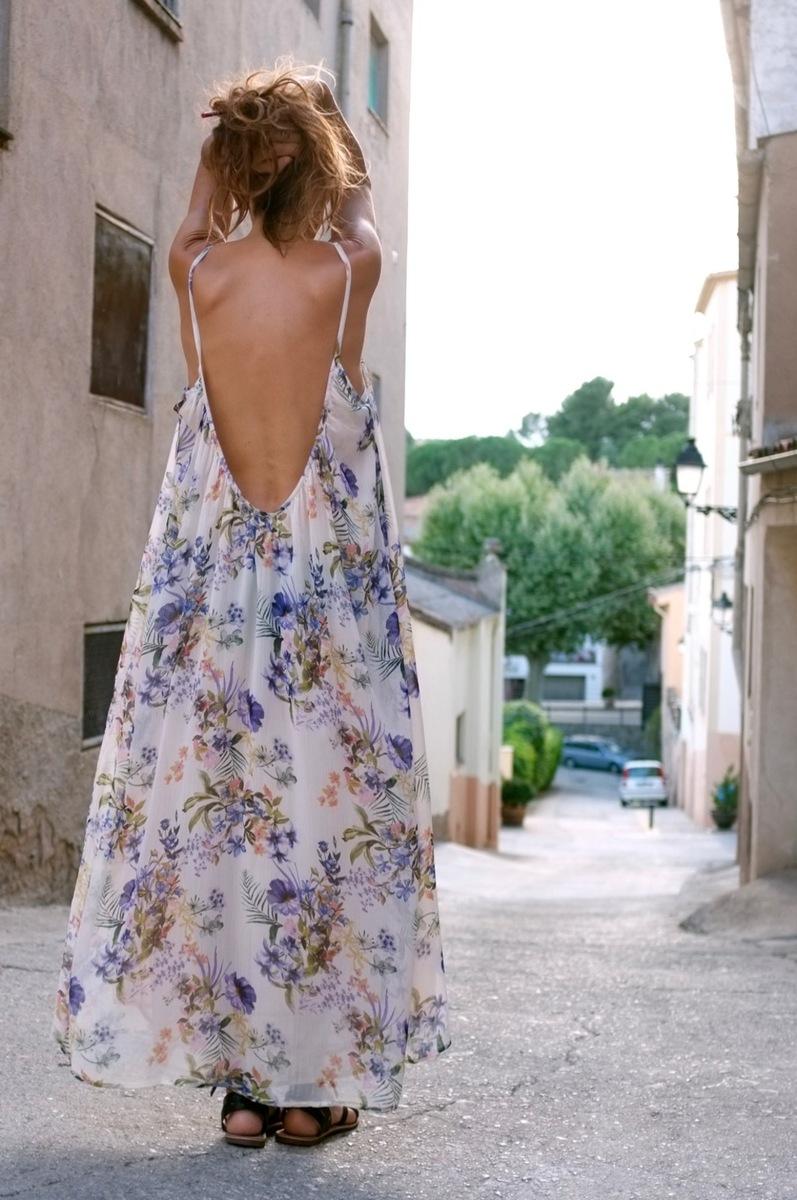 New Diana gasa estampada flores lilas - mujer  comodo dresses moda vestidos