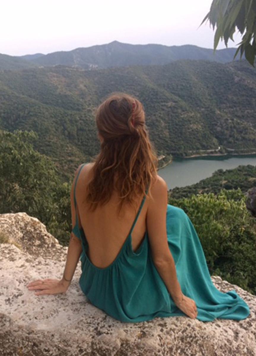 Vestido Diana Verde Turquesa & Coral - mujer  dresses poder sostenible summer sustainable tierra vestidos