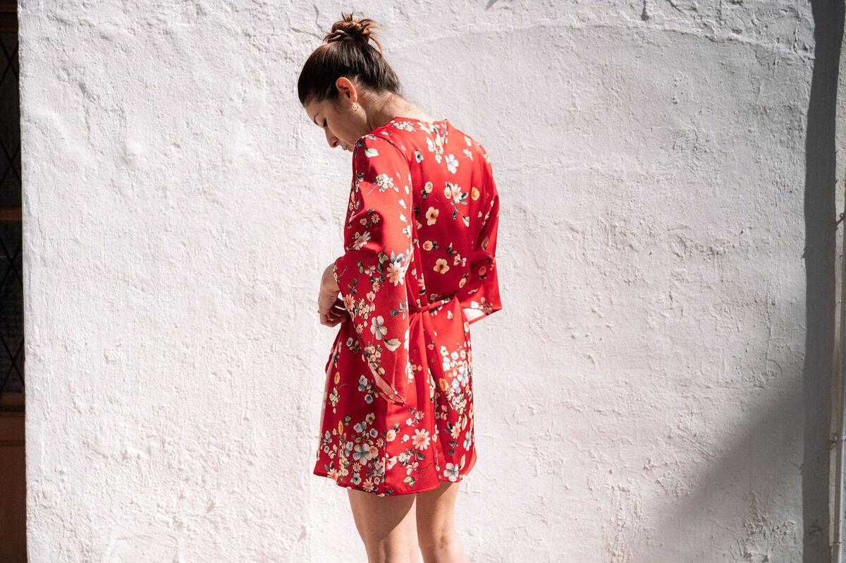 Kimono Menorca Georgette estampado japonés - mujer  comodo elegancia georgette kimonos moda sostenible summer sustainable