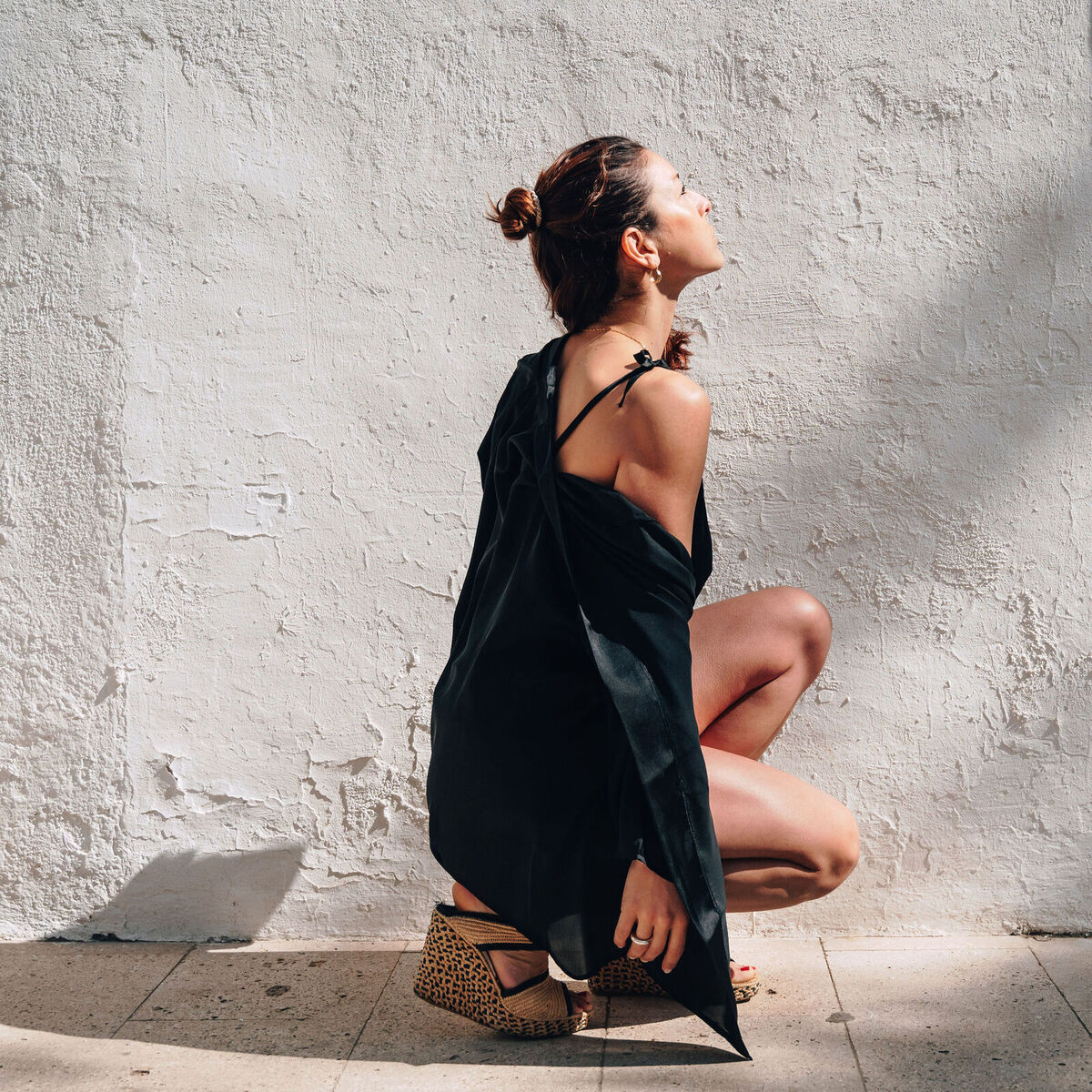 Pijama Gemma en satén negro suave. - mujer  comodo elegancia homewear moda pijama saten short summer top underwear