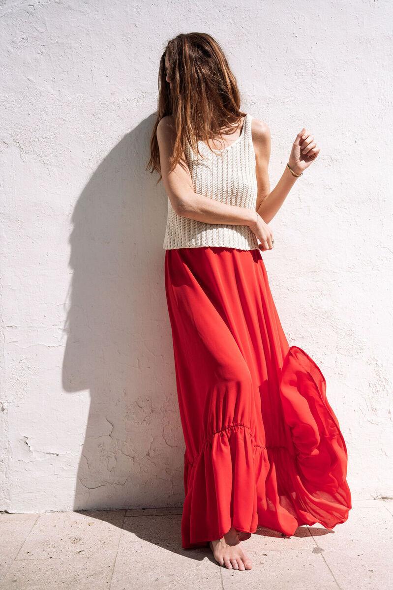 mujer  baile comodo falda moda