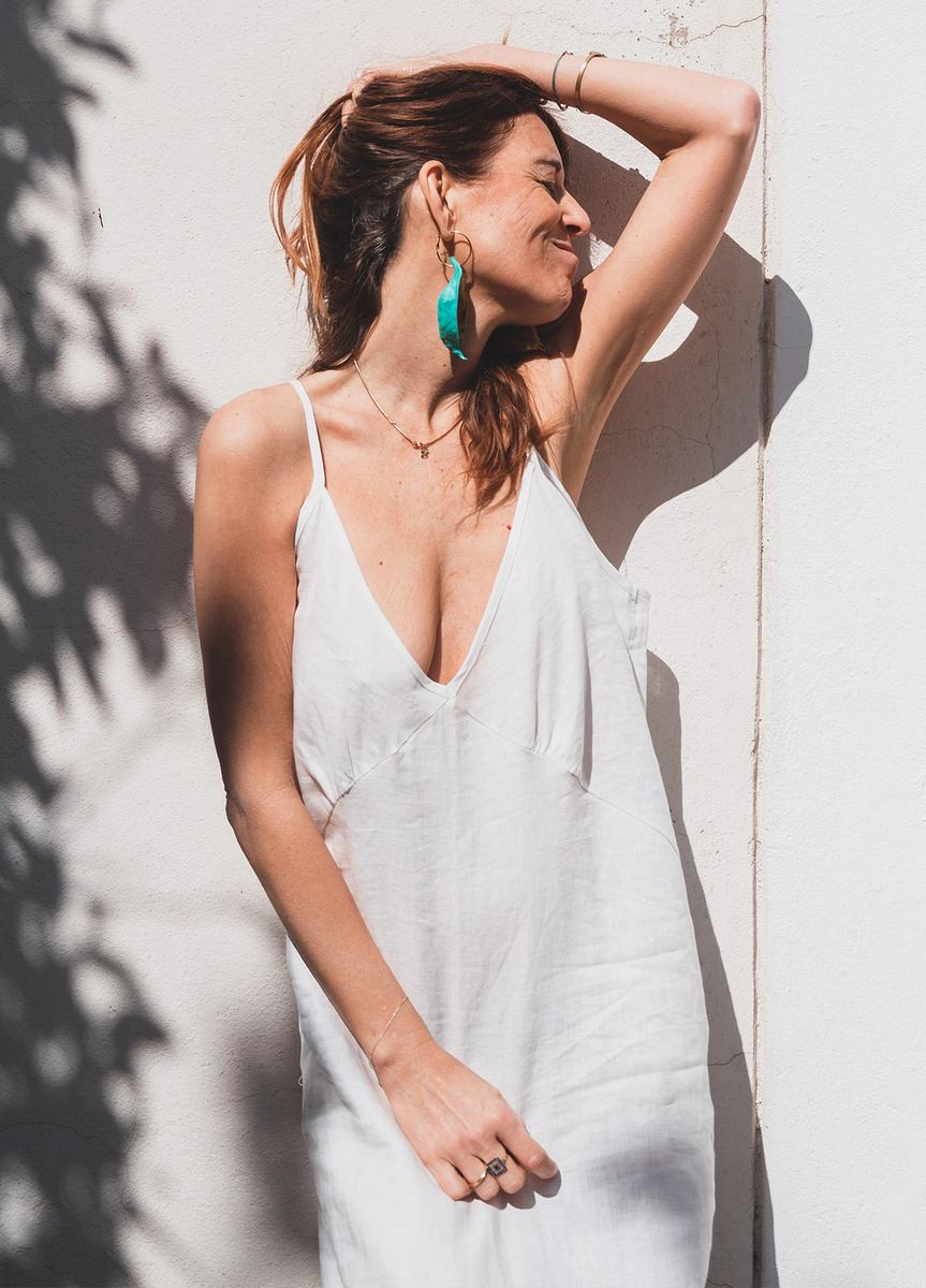 New Judith en Lino Blanco orgánico! - mujer  comodo dresses lino moda organico sostenible summer sustainable vestidos