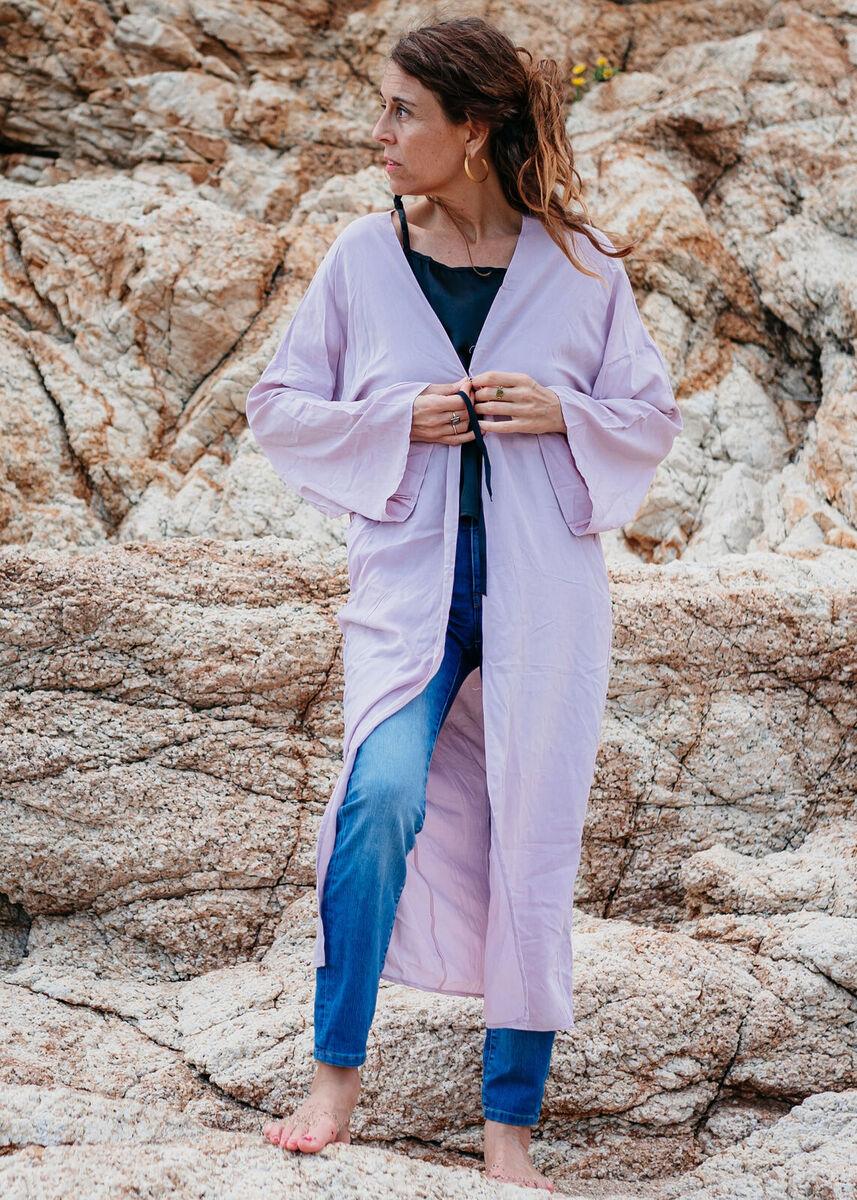 Kimono Anna i Martí. Rosa - mujer  kimonos organico sostenible