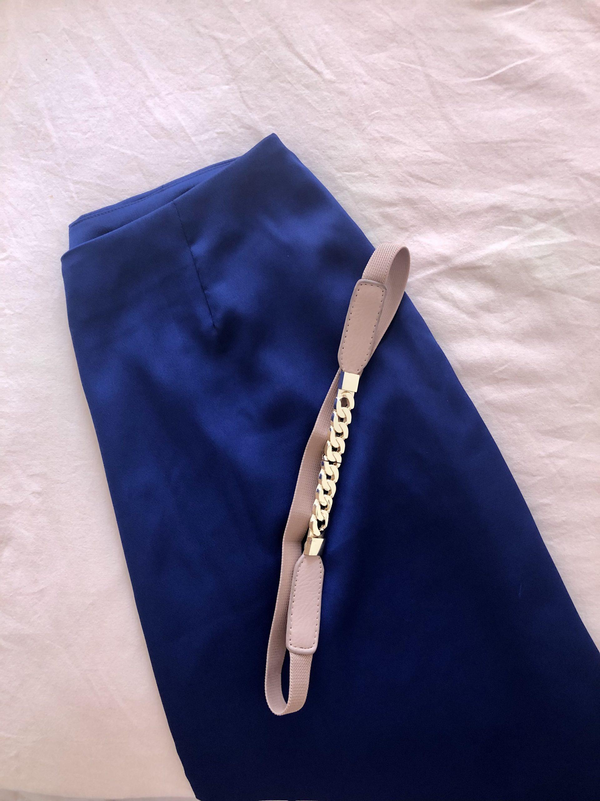 Falda NY Satén azul noche - mujer  comodo elegancia falda fiesta